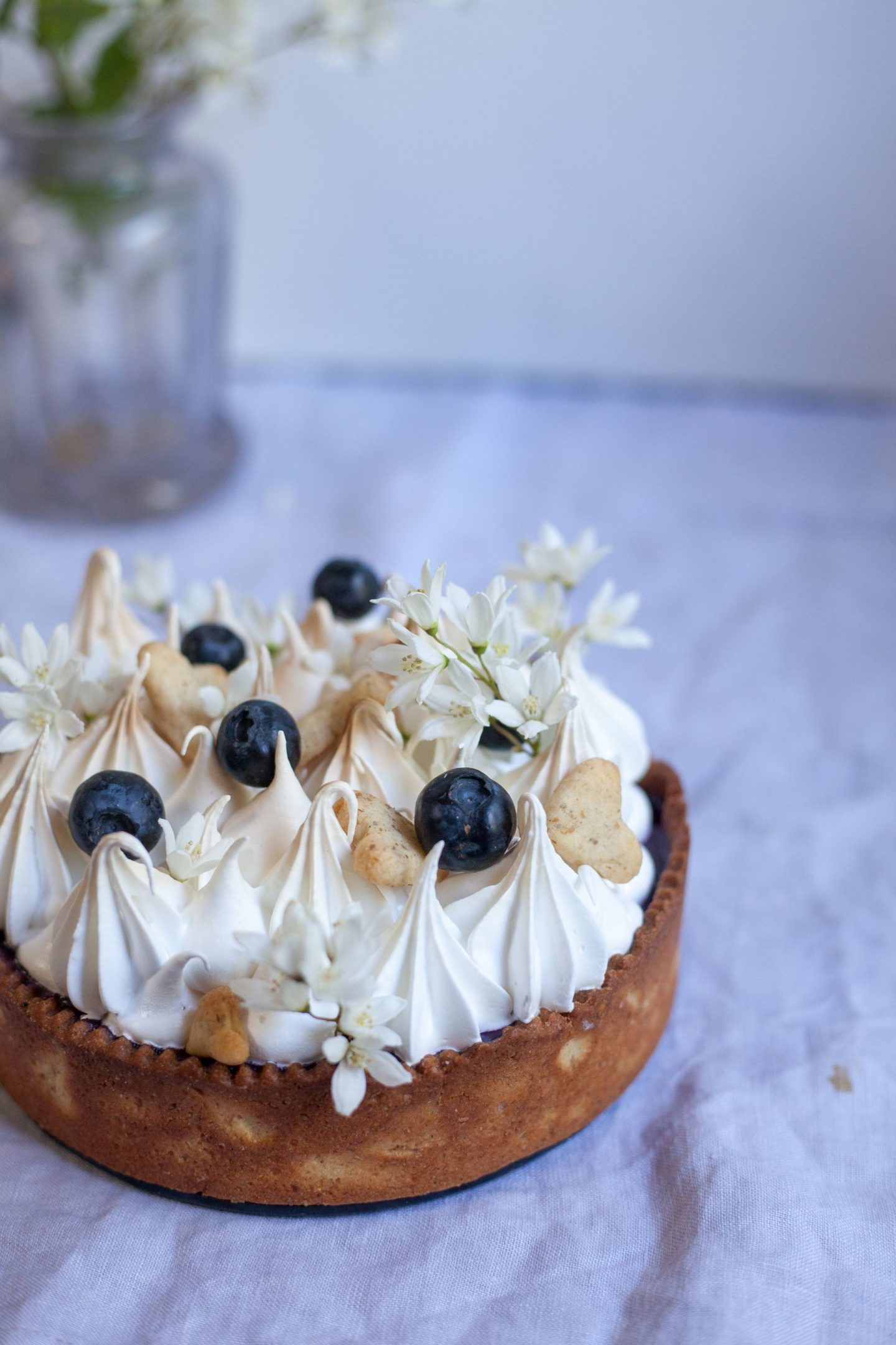 blueberry meringue tart
