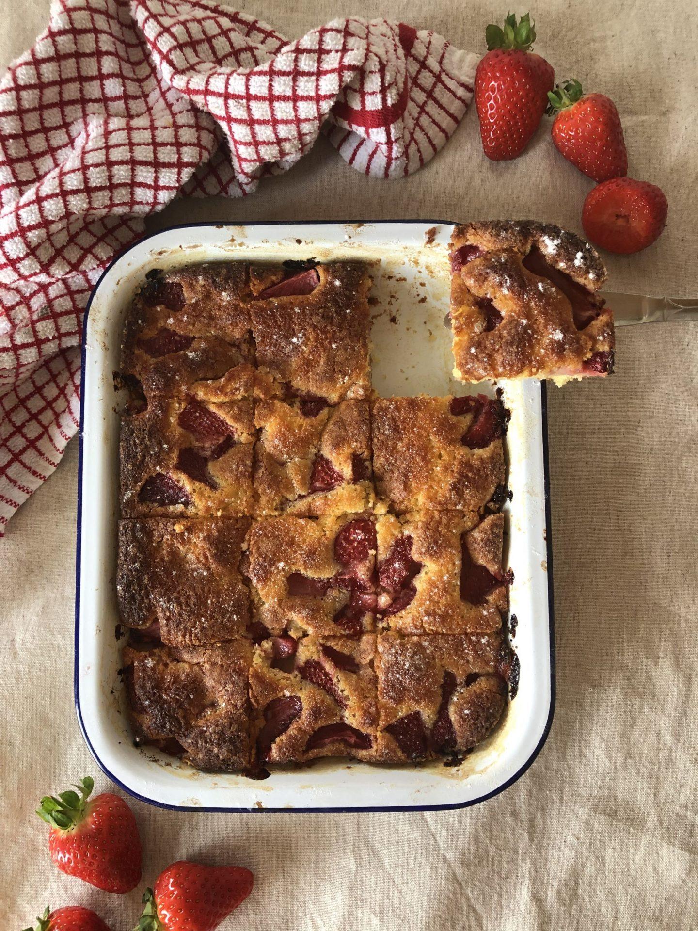 strawberry french cake